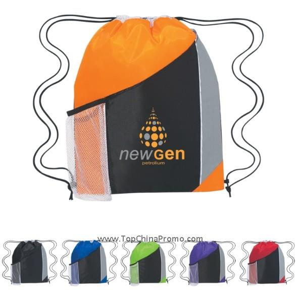 Tri-Color Drawstring Sports Backpack