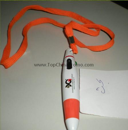 plastic pen with lanyard