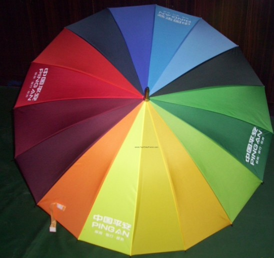 straight umbrella,rainbow umbrella