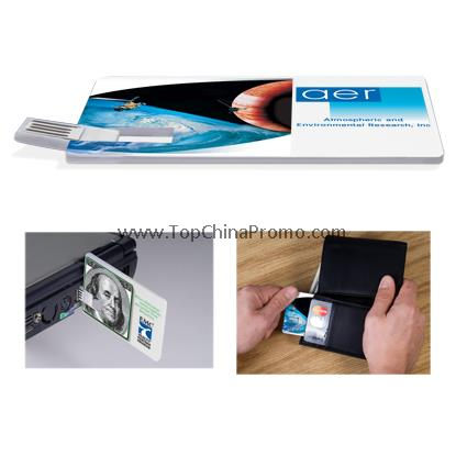 Custom Credit Card USB Drive �C 2GB