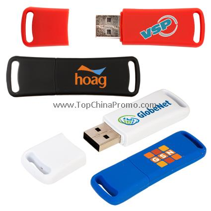 Rubberized USB Memory Flash Drive - 4GB