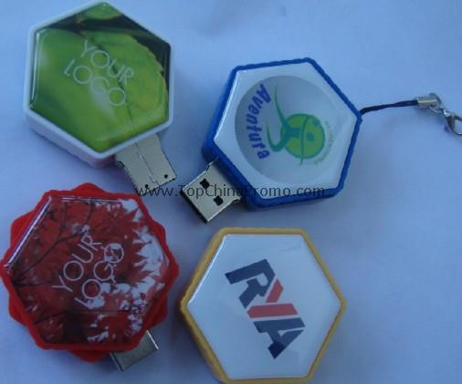Swivel USB Drive,epoxy logo USB memory stick
